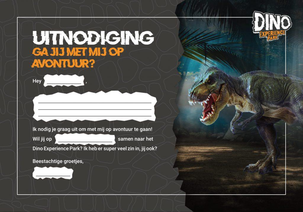 Dino Experience Park Uitnodiging